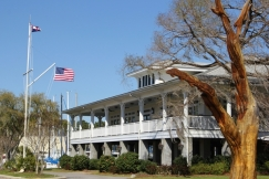 Fairhope, Alabama - Fairhope Yacht Club, marinas and the eastern shore.
